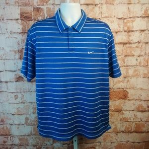 Nike Preformance Striped Polo Shirt Size L
